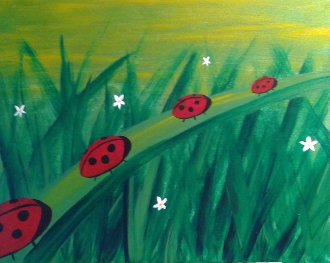 Lady Bugs in a Row