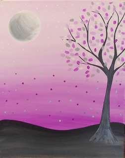 Lavender Moon Rise