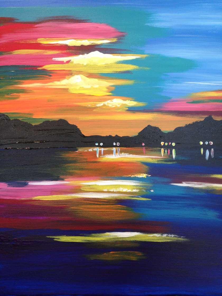Lazy Lake Sunset