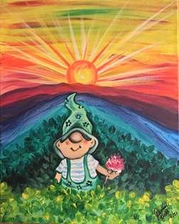 Leprechaun Sunrise on Rainbow Mountain