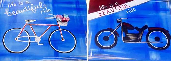 Life is a Beautiful Ride - Date Night Painting