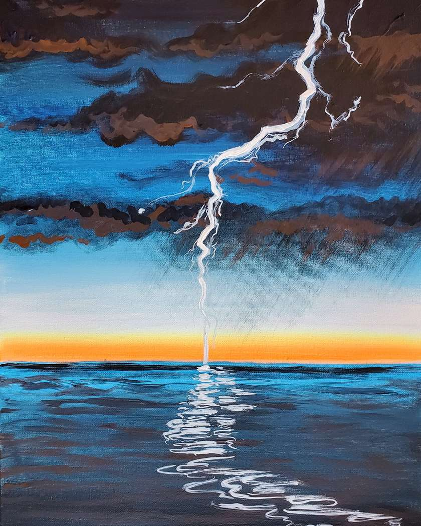 Lightning Over the Water