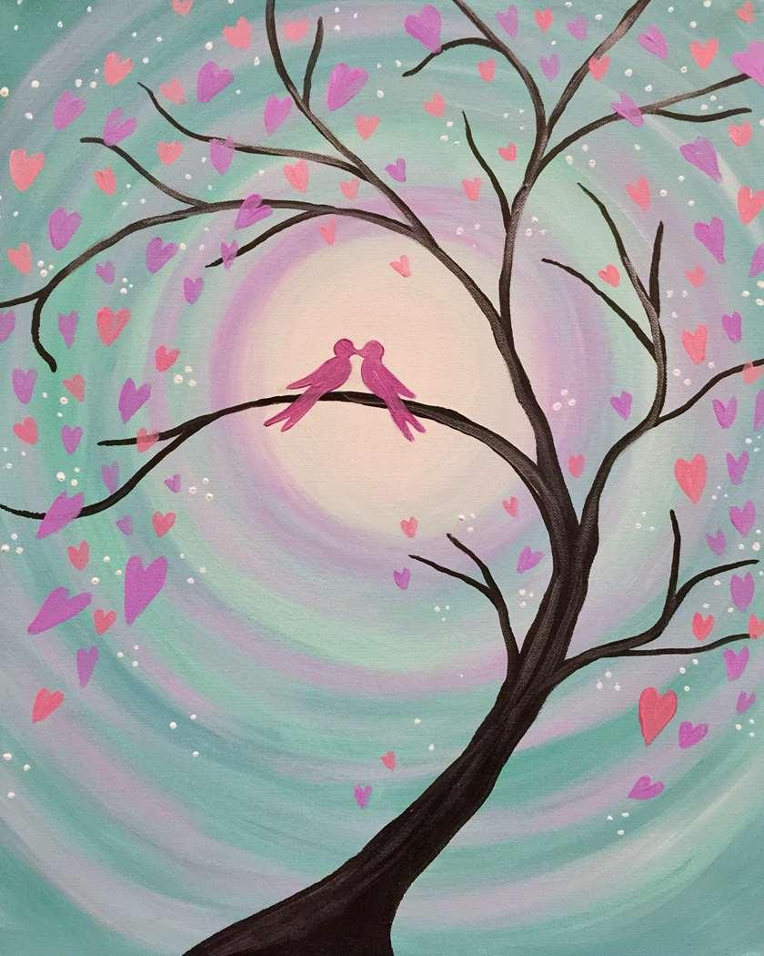 Lilac Lovebirds