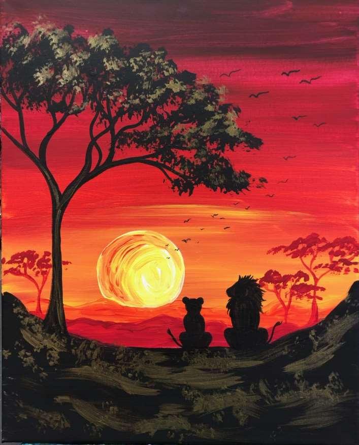 Lions At Sunrise