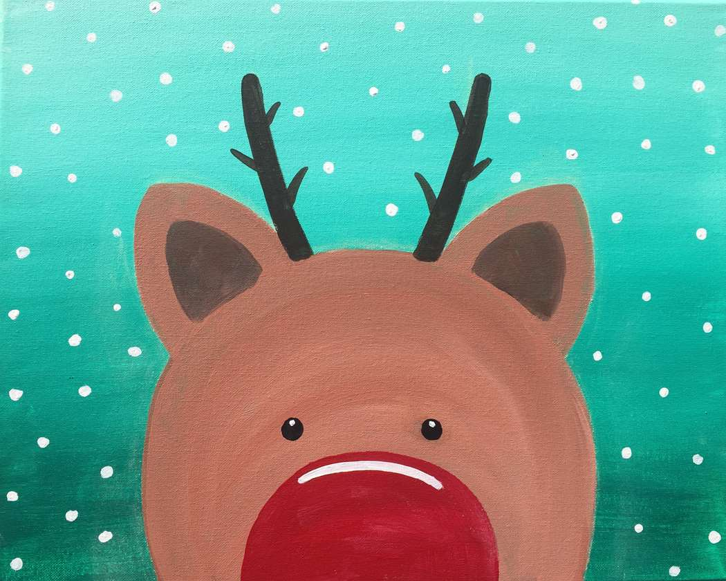 Little Rudolph- Pre-Stenciled- Family Day - ages 5 and up allowed -everyone needs a reservation