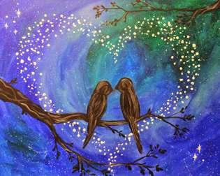 Romantic Lovebirds