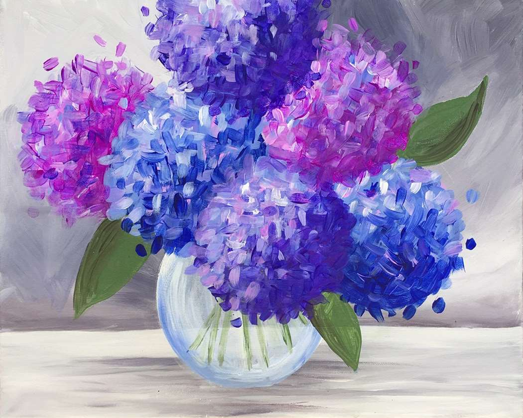 IN STUDIO CLASS: LOVELY HYDRANGEAS - LIMITED SEATING
