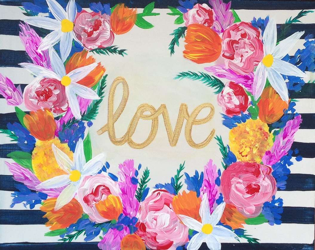 Loving Blooms - Canvas or Tote Bag - $2 Off Glasses of Wine