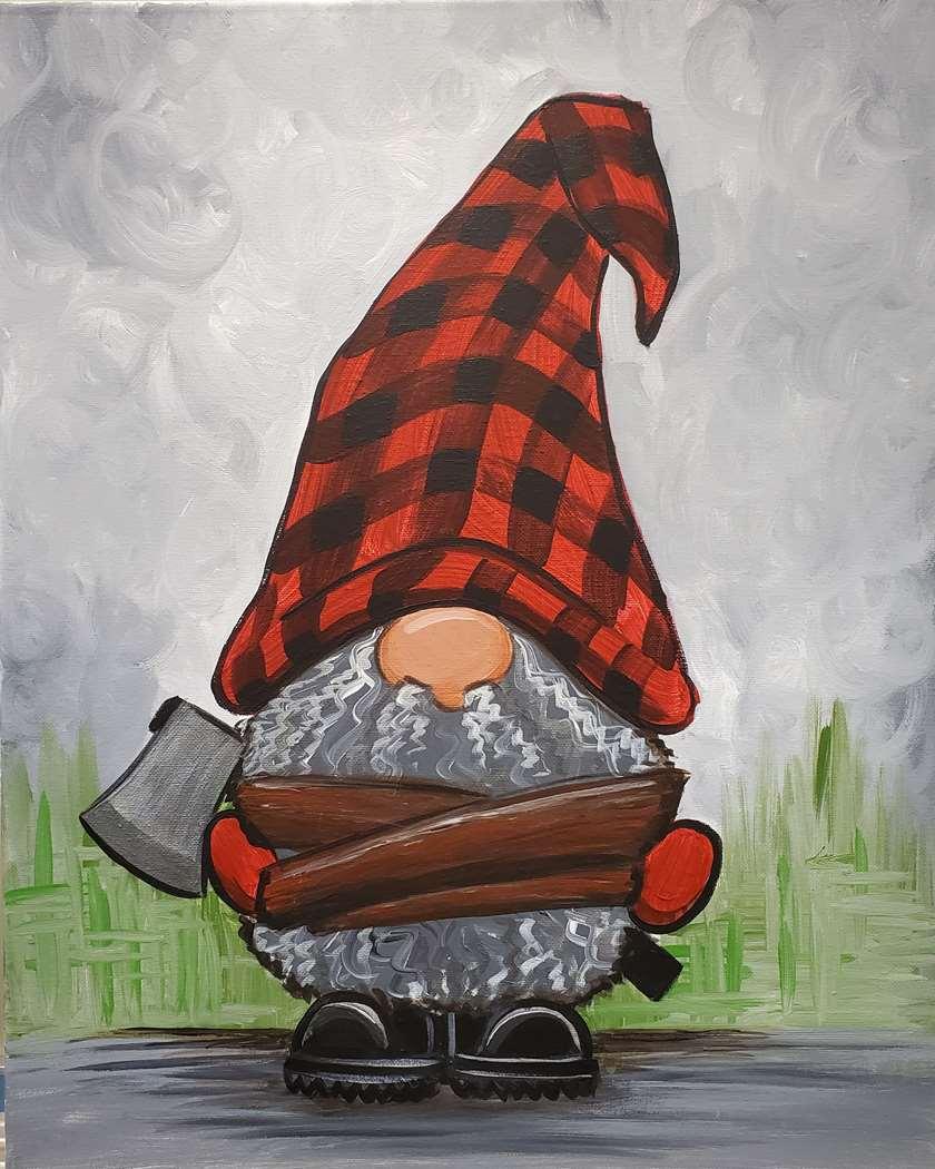 Lumberjack Gnome - Pre-Sketched