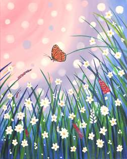 Magical Blooms & Butterflies