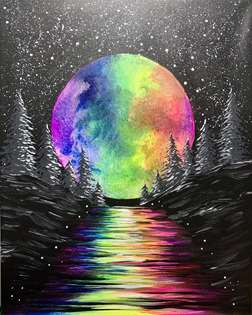 Magical Rainbow Moon