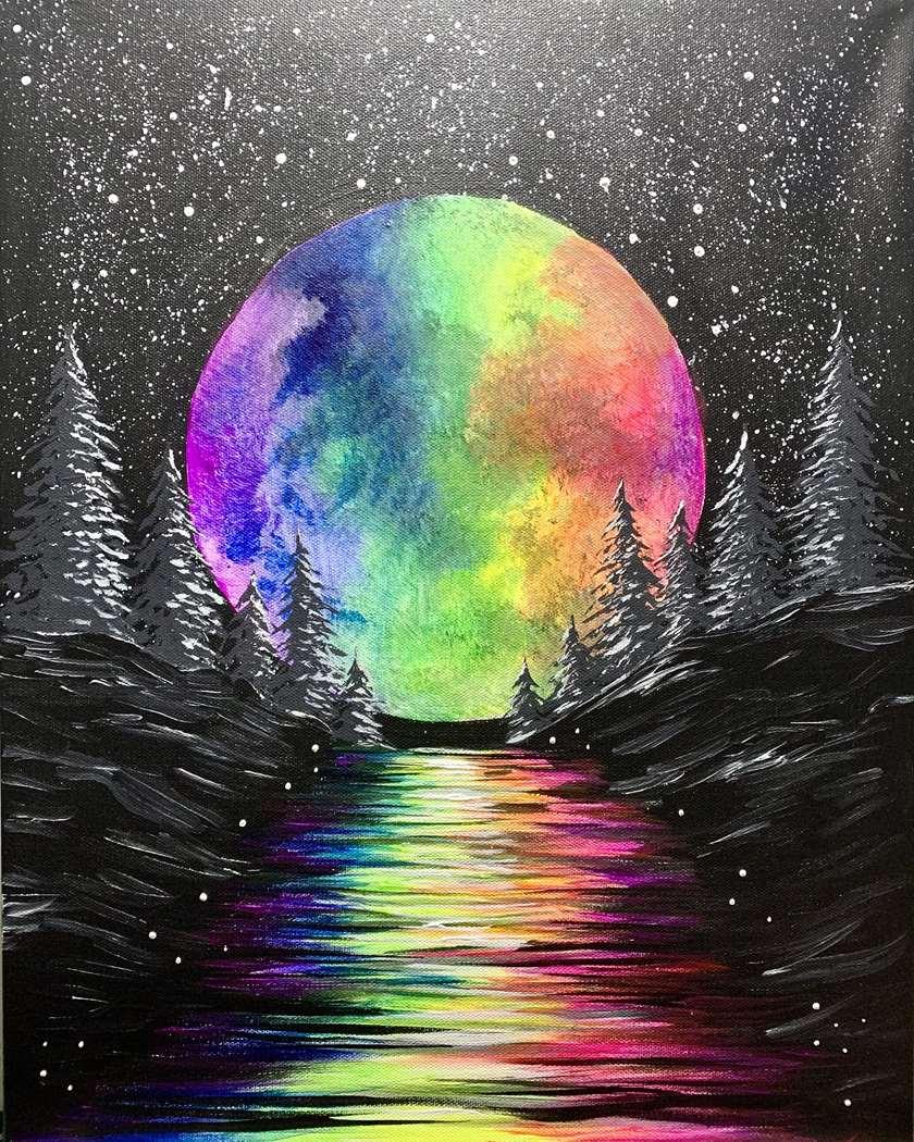 """""""magical rainbow moon"""""""