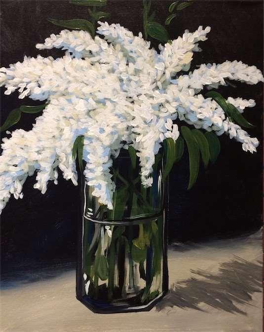 Manet's Lilacs in a Vase