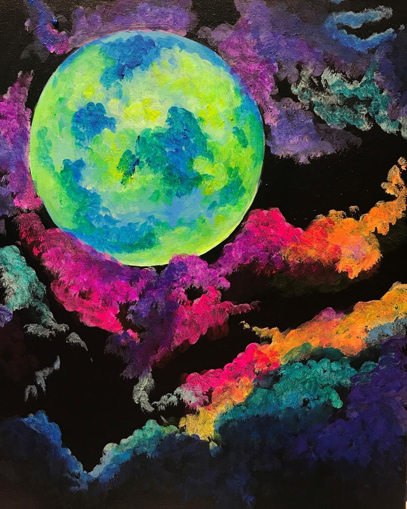 Marvelous Moon - Black Light Painting!