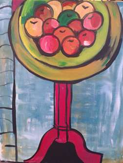 Matisse Bowl of Apples on Table