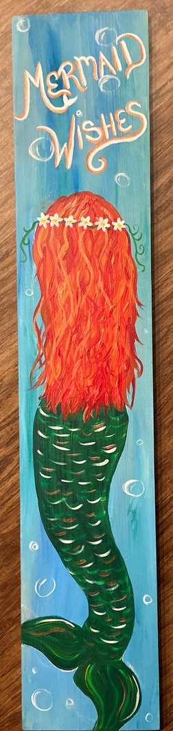 Mermaid Wishes Porch Board