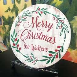"""Merry Christmas"" Custom Board"