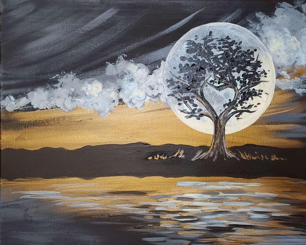 Metallic Moonrise