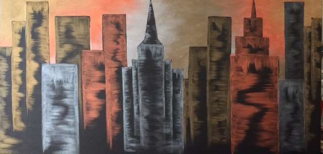 Metallic Skyline: Couples Collaborative