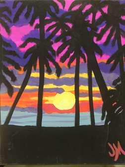 Miami Palms Silhouette
