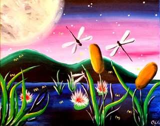 Midnight Dragonfly Pond