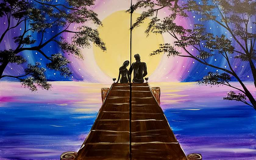 Date Night - 2 canvases, 1 pic