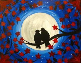 Midnight Moon Birds