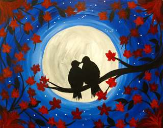 Midnight Moon Birds