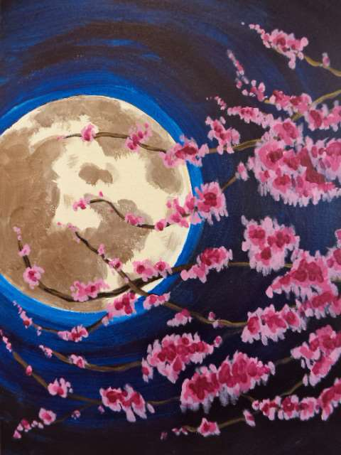 Midnight Moon Blossoms