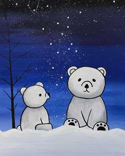 Midnight Polar Bear
