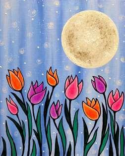 Midnight Tulips