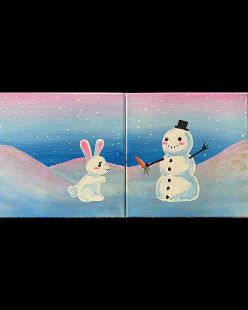 Mini - Bunny and Snowman