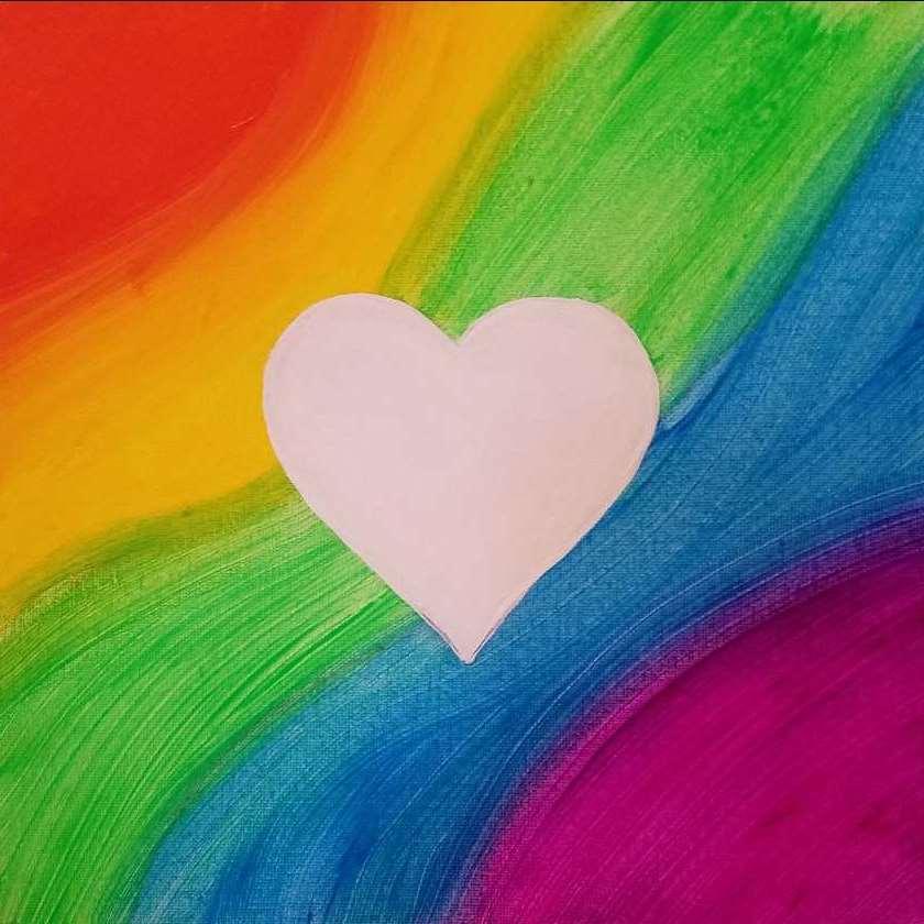 Mini - Rainbow Heart