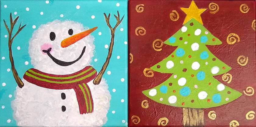 Mini - Snowman and Christmas Tree