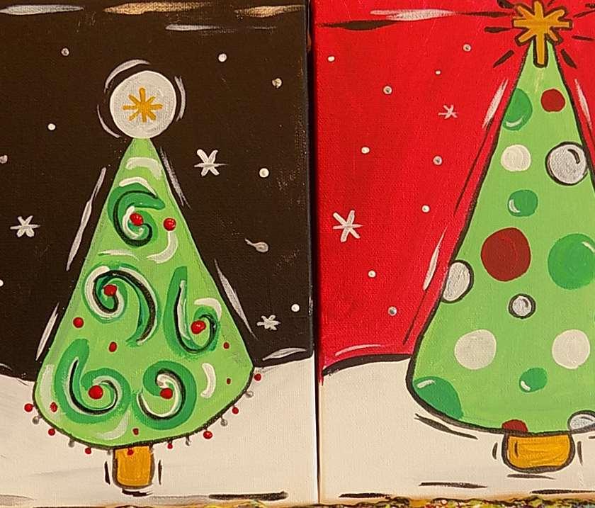 mini christmas trees sat dec 02 10am at pinots palette huntsville - Mini Christmas Tree