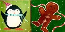 Mini Penguin and Gingerbread Man
