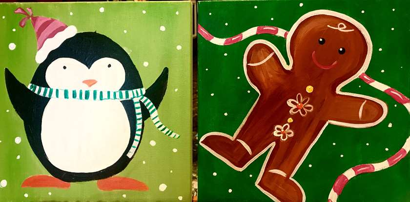 Mini Penguin and Gingerbread Man