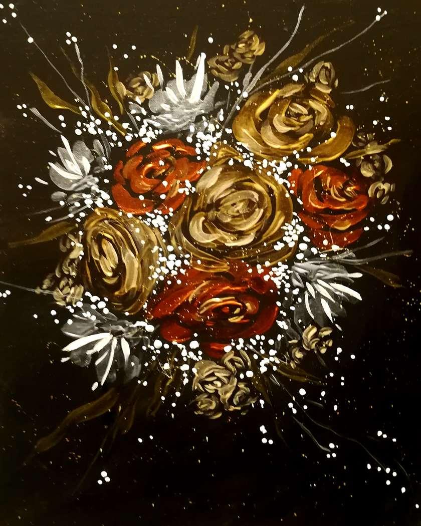Molten Metallic Bouquet