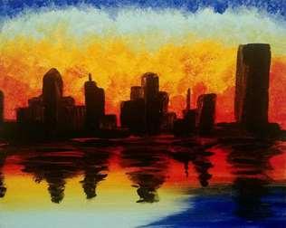 Monet Inspired Buffalo Sunrise