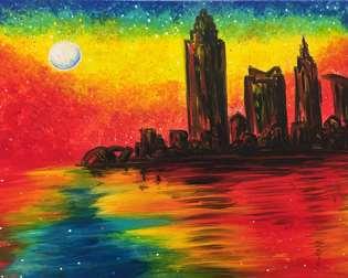 Monet's Cleveland Twilight