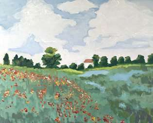 Monet's Field of poppies