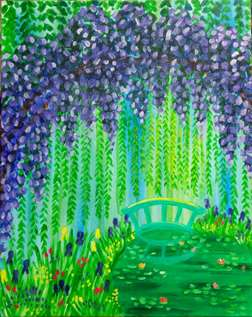 Monet's Garden in Morning
