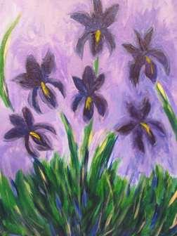 Monet's Lilac Irises