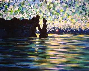 Monet's Manneport Sunset