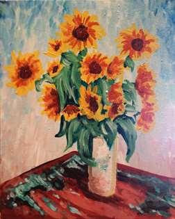 Monet's Sunflowers