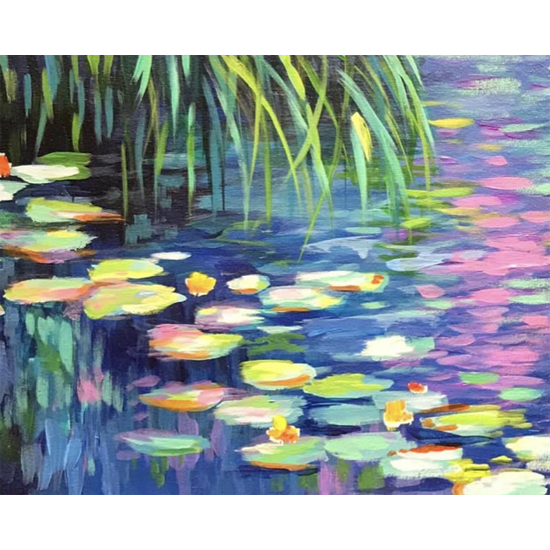 Monet's Water Lilies II - In Studio Event - Limited Seating Available