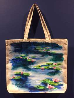 Monet's Water Lilies on a Canvas Tote