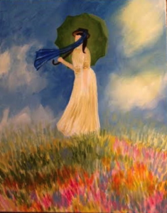 Monet's Woman with Parasol