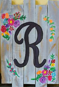 Monogrammed Wood Door Hanger