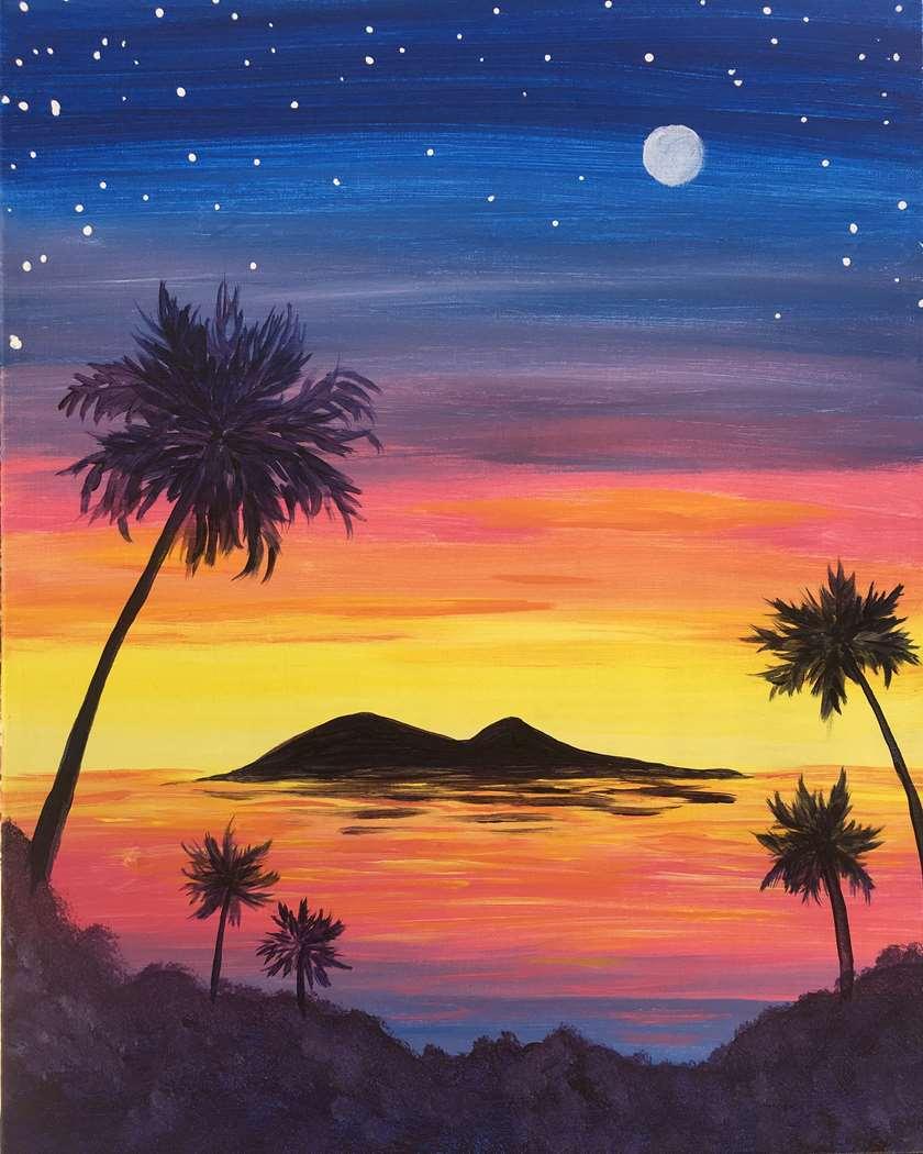 Moon Over Catalina